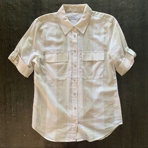 Equipment signature slim short sleeve button up